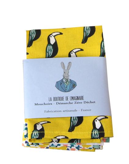 Mouchoirs tissu lot 2