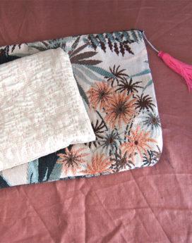 Trousse plate tissu vintage
