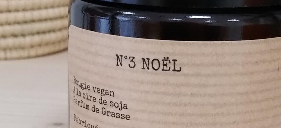 Bougie vegan parfum noel