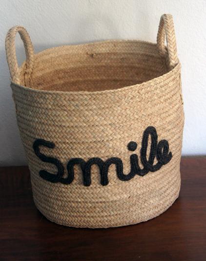 Corbeille personnalisée smile
