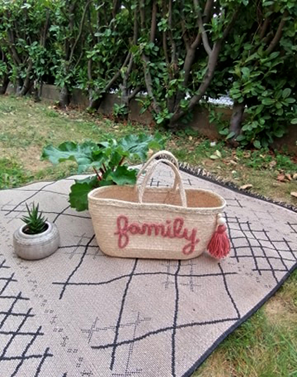 Panier personnalisable family rose