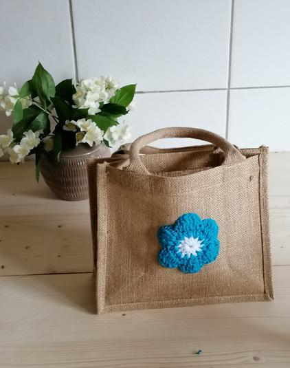 Mini-sac-toile-jute-doree-bleu