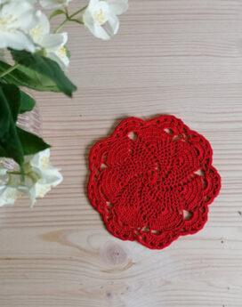 Napeperon-crochet-rouge