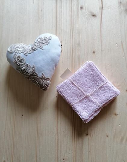 Cotons lavables Lyon lingettes éponge bio rose