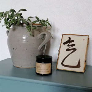 Bougie parfumée artisanale à la cire de soja Lyon