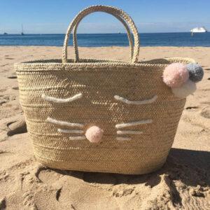 Sac panier Lyon chat sac de plage