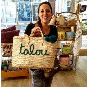 Concept store Lyon sac cabas panier personnalisé