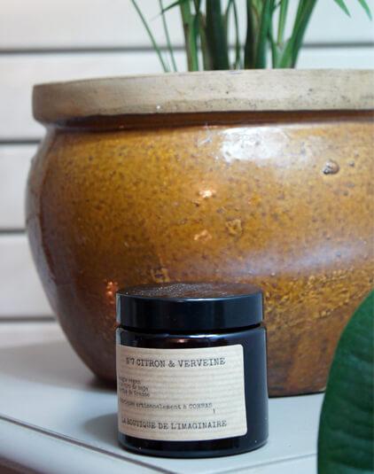 Bougie et bougie parfumée Lyon artisanale parfum citron verveine