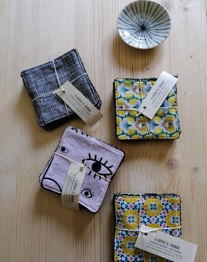 Cotons lavable Lyon lingettes zéro déchet