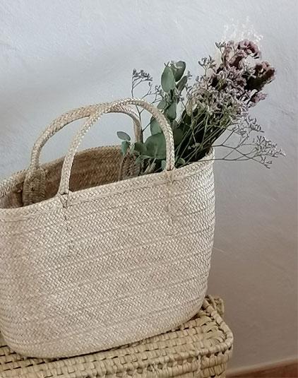Sacs paniers Lyon et fleurs séchées