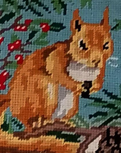Panier enfant détail écureuil