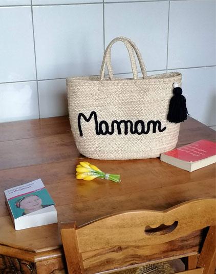 Sac panier lyon Maman bleu marine