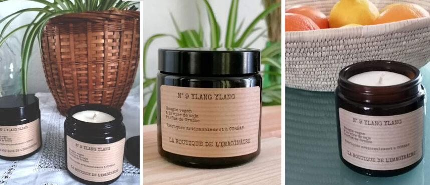 Bougie parfumée bio Lyon Ylang Ylang