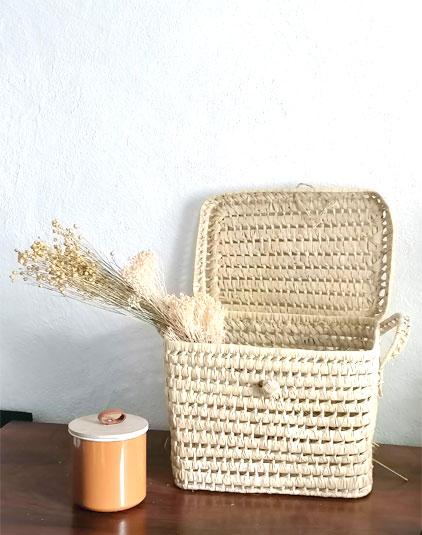 Panier pique nique Lyon feuille de palmier